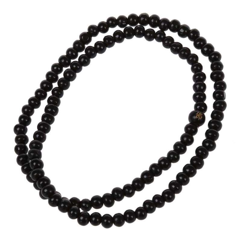 Bracelet de méditation Mâla 108 perles en Bois de santal - Noir ébène - L'univers-karma