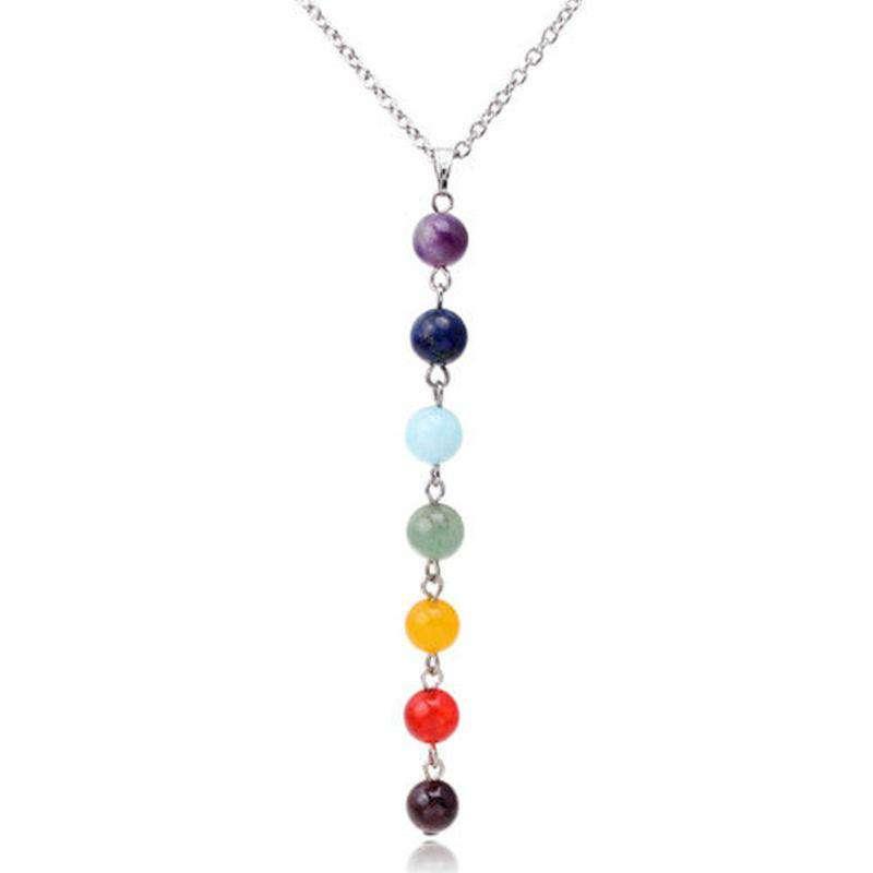 "Collier ""Perles des 7 Chakras"" - L'univers-karma"