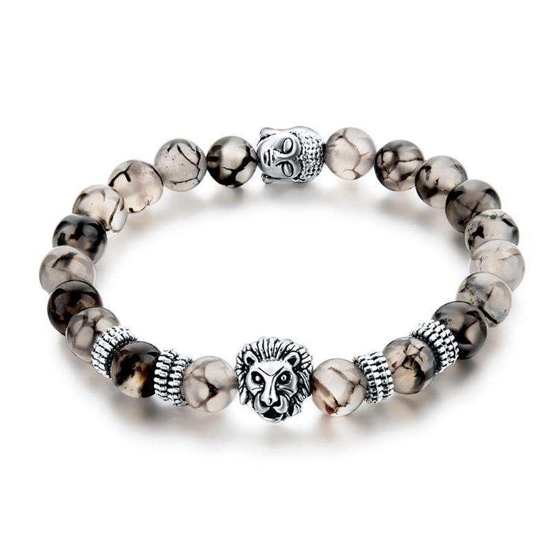 """Bracelet """"Force & Présence"""" en Agate Naturelle - L'univers-karma"""
