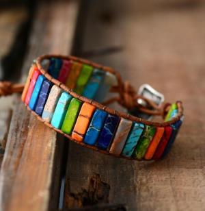 Bracelet positif 7 charkas multicolore - L'univers-karma