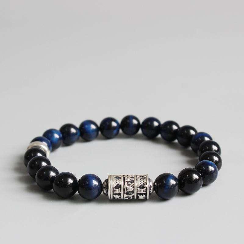 """Bracelet """"Totem"""" en Oeil de Faucon - L'univers-karma"""