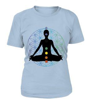 """T Shirt """"Méditation 7 Chakras"""" Pour femme - L'univers-karma"""