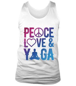 """Débardeur""""Peace, love & Yoga"""" Pour homme - L'univers-karma"""