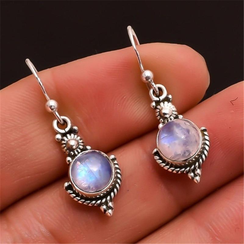 Boucles d'oreilles en pierre de lune - L'univers-karma