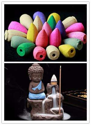 Statuette Bouddha Brûleur D'encens - L'univers-karma