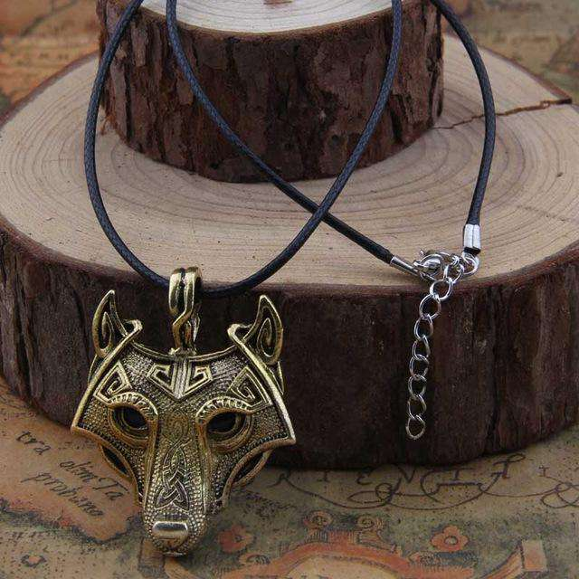 Collier Viking  Tête de Loup Fenrir - L'univers-karma