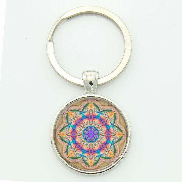 Porte clé Mandala - L'univers-karma
