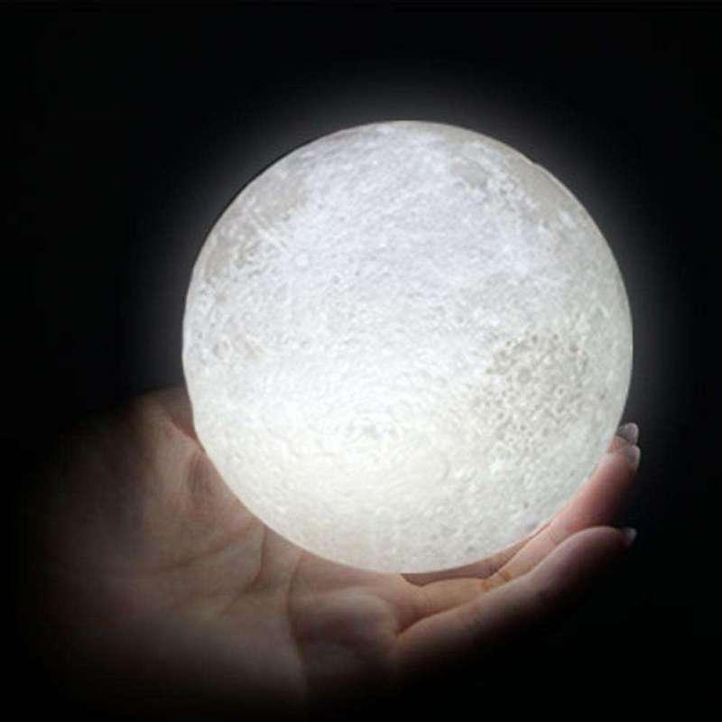 Lampe Lunaire Céleste LED avec support Bois - L'univers-karma