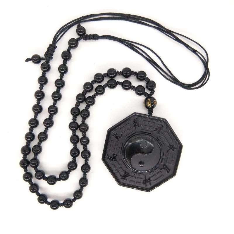 Collier Ying Yang en Obsidienne Noire - L'univers-karma