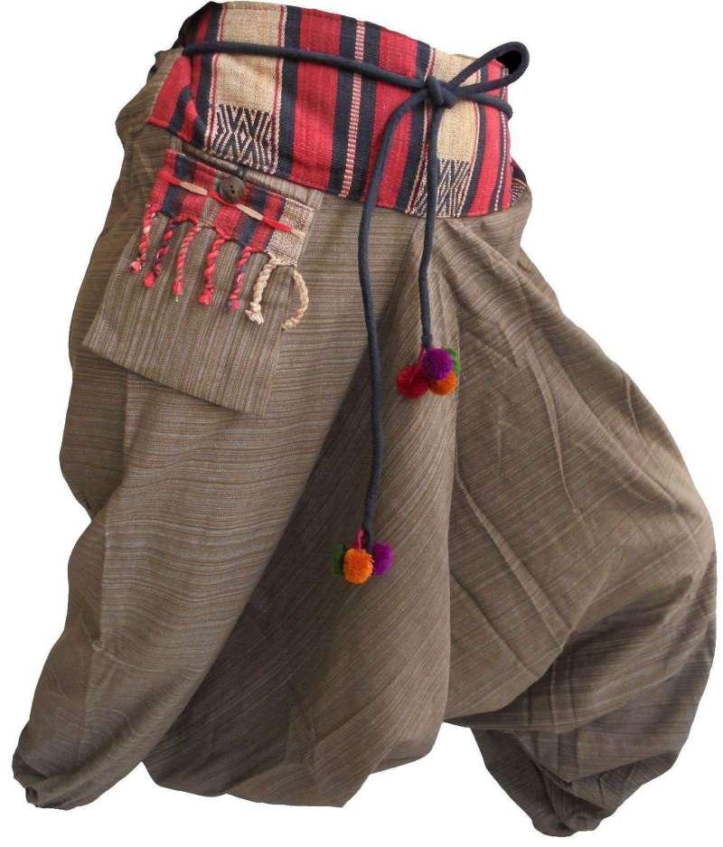 Pantalon Sarouel Marron - L'univers-karma