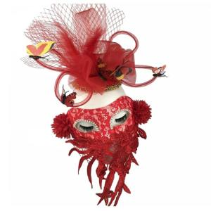 masque papillon rouge