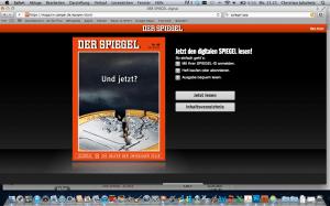 Jetzt auch im Browser multimedial: Der Spiegel.