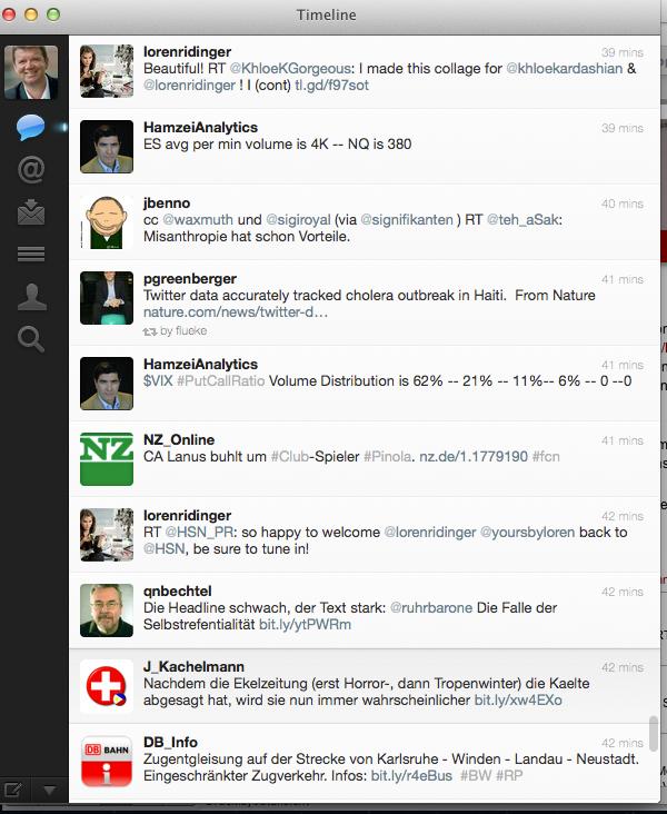 Medien als bevorzugter Inhalt: Tweets bei Twitter