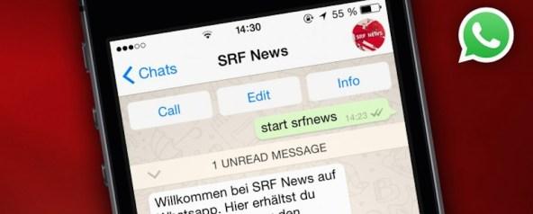 What´sApp als zukünftiger Newskaal? Sender wie das SF experimentieren bereits mit dieser Idee. (Foto: SF)