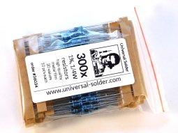 300 metal film resistor kit 1% 30 kinds, 10 each - smarter electronics by universal solder