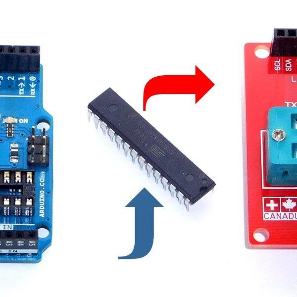 CANADUINO Arduino Uno ZIF Socket Programmer Shield - smarter electronics by universal solder