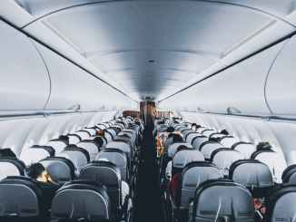 Passsengers in plane seats