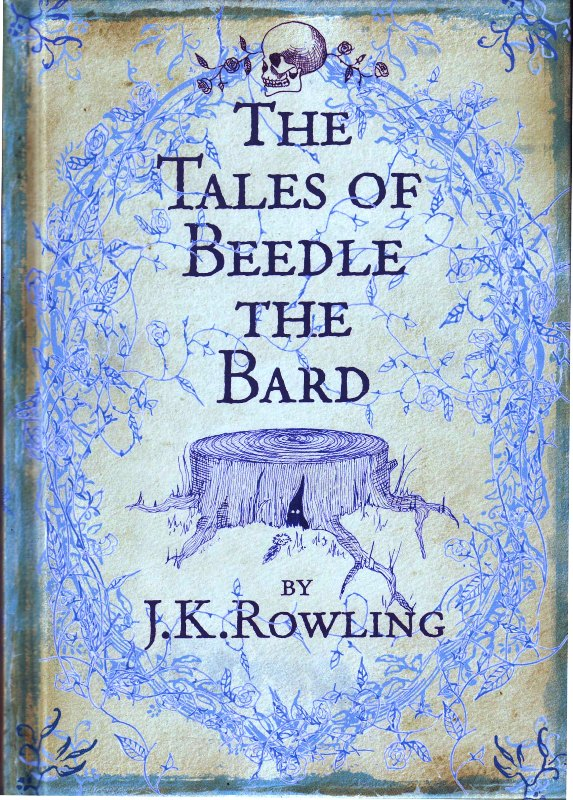 The cover of the UK public paperback edition of The Tales Of Beedle The Bard.