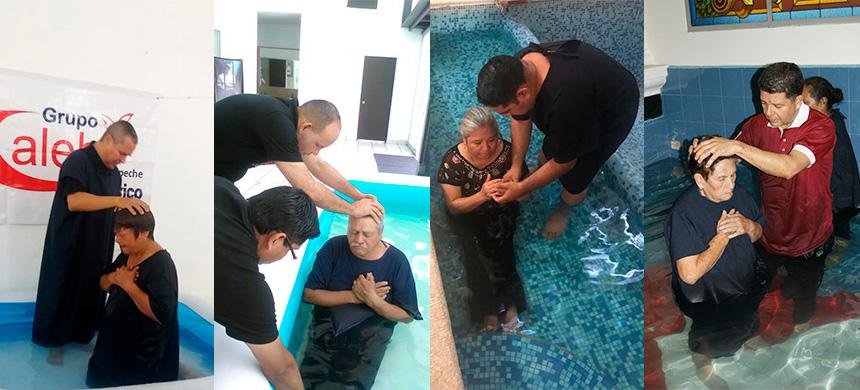 Grupo Caleb bautizó en las aguas a 600 adultos mayores a nivel nacional