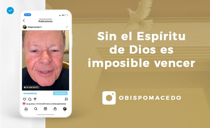 Sin el Espíritu de Dios es imposible vencer