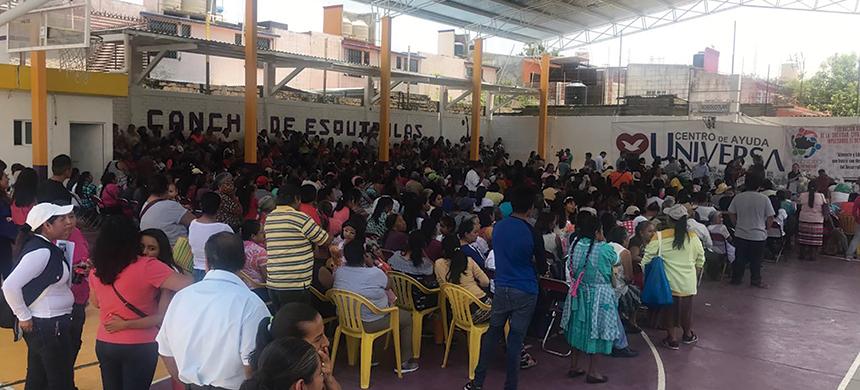Se entregaron siete toneladas de alimento en Santa Cruz Xoxocotlán, Oaxaca
