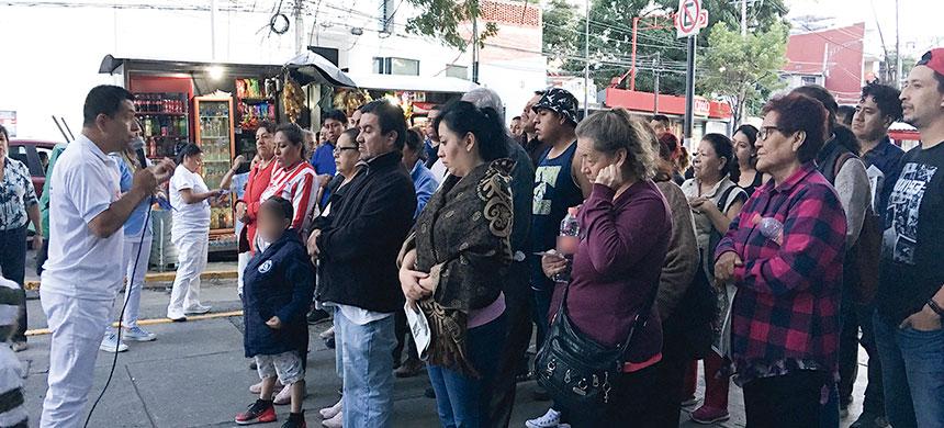 Los Ángeles de la Calle visitan dos nosocomios en la Ciudad de México