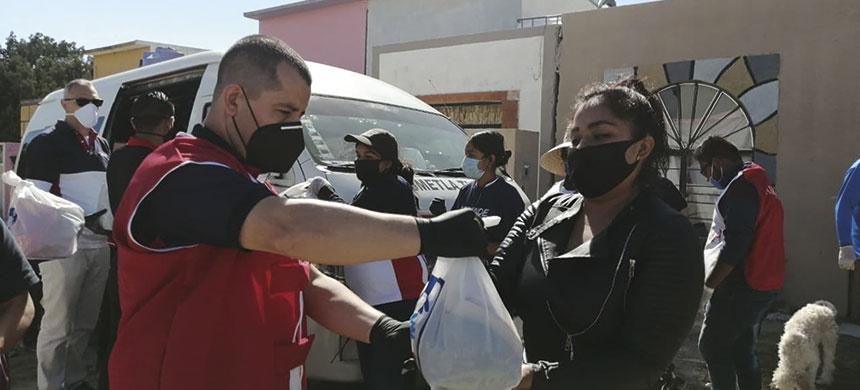 Más de una tonelada de alimento fue repartida en comunidad de Tlaxcala
