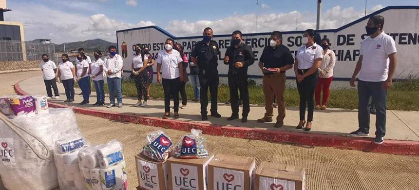 La UEC brindó su ayuda para cuatro centros de reinserción de Chiapas