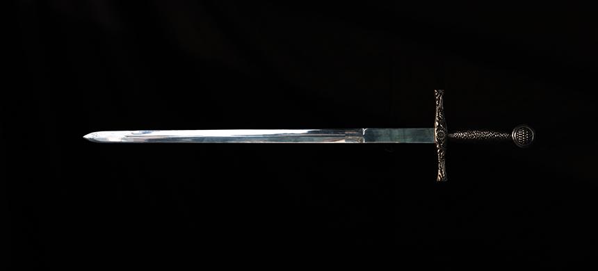 ¿En dónde está su espada?