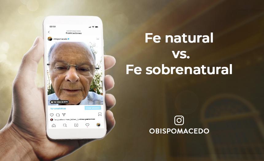 Fe natural vs. Fe sobrenatural