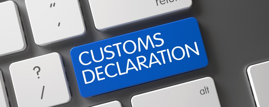 Customs Declaration Keyboard