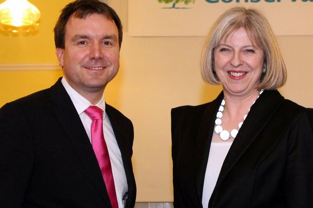 Andrew Griffiths and Theresa May