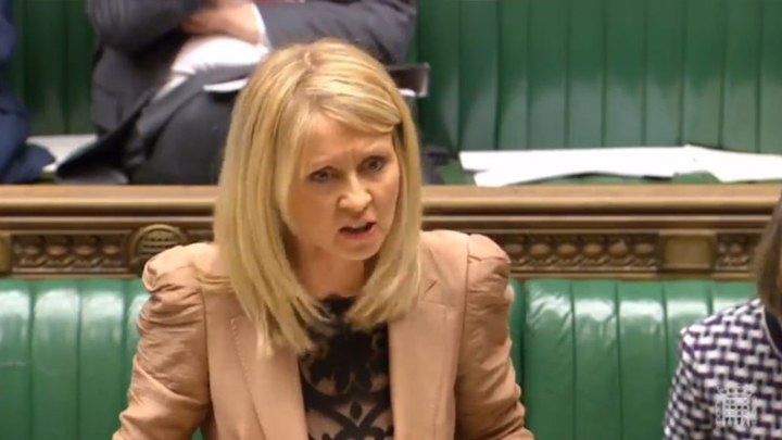 "Sick Esther McVey tells women on Universal Credit; ""there are other jobs on offer"""