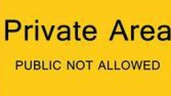 Private area public not allowed