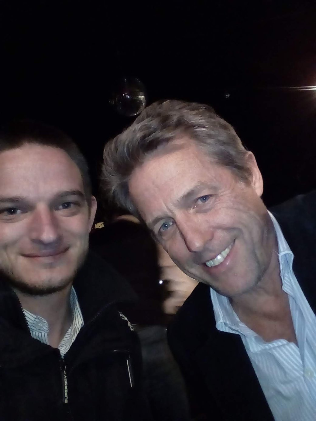 Hugh Grant and Alex Tiffin