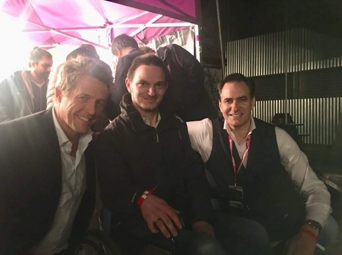 Hugh Grant, Alex Tiffin and Peter Stefanovic