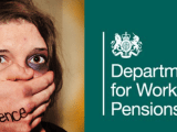 Domestic Abuse Victim and DWP logo