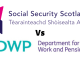 Social Security Scotland logo and DWP Logo