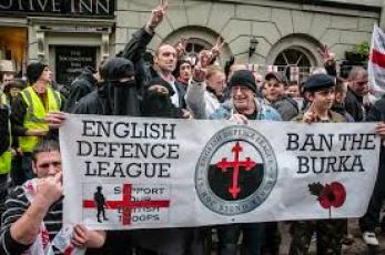 English Defence League EDL anti Islam protest