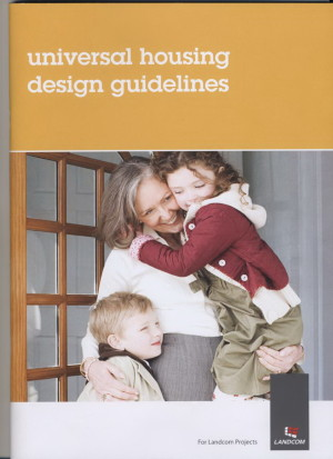 Front cover of the Landcom Universal Housing Design Guidelines