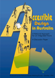 Accessible Design in Australia 1999 front cover
