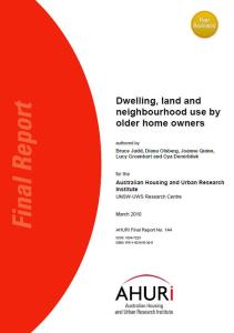 Dwelling Land and Neighbourhood use older homeowners