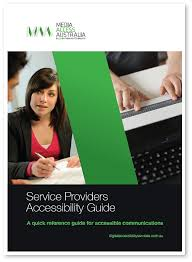 Front cover of service providers accessibility guide