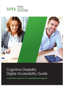 Front cover of the cognitive disability digital accessibility guide.