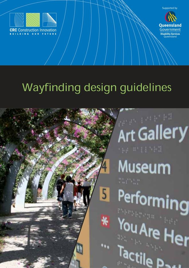 front cover of the wayfinding guidelines