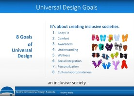 Slide from the video 8 Goals of Universal Design.