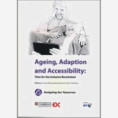 book cover showing outline drawing of an older couple with an iPad tablet