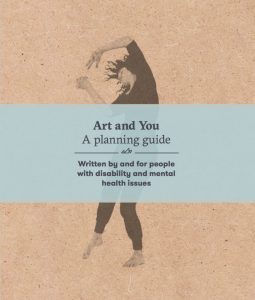 cover page of the guide. Light brown background with a black and white charcoal drawing of a woman dancing. the title is written over her in black lettering