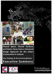 front cover of the report. black background with a collage of pictures and the title in white lettering. Shared space or contested space?