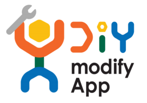 Home Mods App logo with stylised spanner looking like a person with their arms in the air.